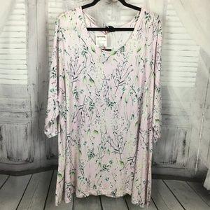 Cynthia Rowley Pink Floral Top NWT 3X